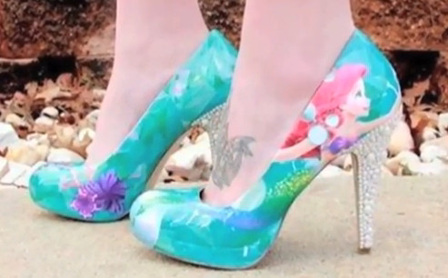 Little Mermaid Shoes Zapatos