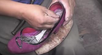Produccion de zapatos John Fluevog por familia peruana