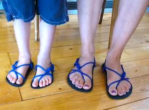 Como amarrar las sandalias Xero