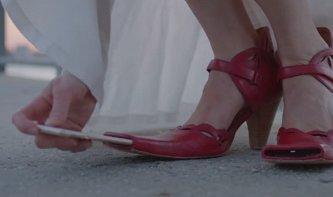 Zapatos para tomar selfies shoes